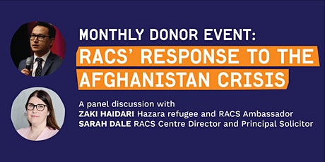 Monthly Donor Event: RACS' response to the Afghanistan Crisis tickets