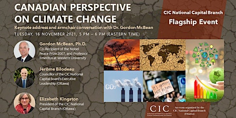 FLAGSHIP EVENT | CANADIAN PERSPECTIVE ON CLIMATE CHANGE, KEYNOTE SPEAKER tickets