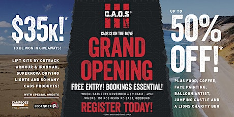 CAOS Grand Opening tickets