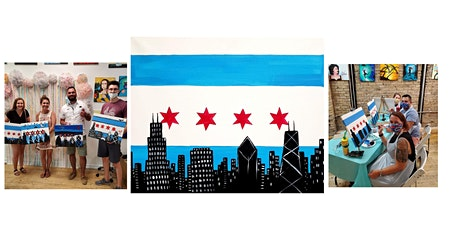 """BYOB Paint and Sip Event - """"Chicago Flag Skyline"""" tickets"""