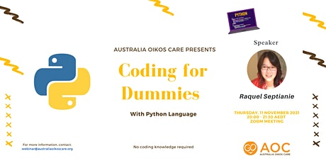 Coding for Dummies with Python tickets