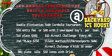 3rd ANNUAL FAMILY 1ST CHRISTMAS TOY DRIVE & CORNHOLE TOURNAMENT tickets