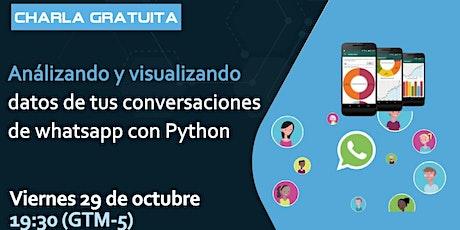 Analizando y visualizando datos de conversaciones de WhatsApp con ¨Python tickets
