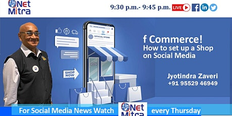 f Commerce- How To Set Up A Shop On Social Media tickets