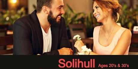 Speed Dating Singles Night in Solihull Ages 20's & 30's Paramo Lounge Sol tickets