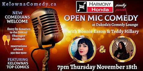 Harmony Honda presents Open Mic Comedy for the Central Okanagan Food Bank tickets