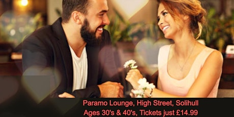 Speed Dating Singles Night in Solihull Ages 30's & 40's tickets
