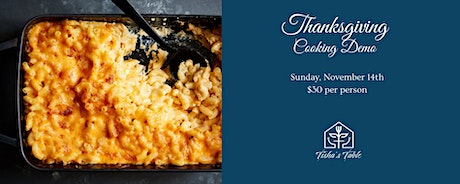 Cooking demo with Chef Tisha   Thanksgiving Edition tickets