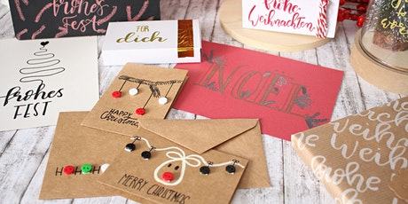 X-Mas Special Cards & Deco Handlettering und Brushlettering Workshop Tickets