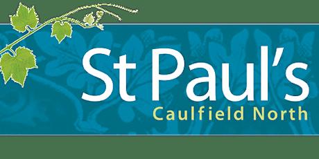 St Paul's Caulfield North - 1pm Communion Service tickets