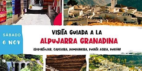 VISITA GUIADA A LA ALPUJARRA GRANADINA entradas