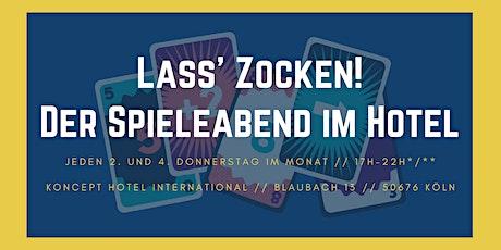 Lass' Zocken! - Der Spieleabend im Hotel Tickets