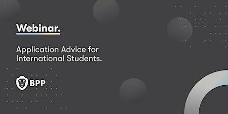 Application advice for international students billets