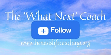 Meet the 'What Next' Coach for a 60 minutes introduction to Life Coaching. Tickets