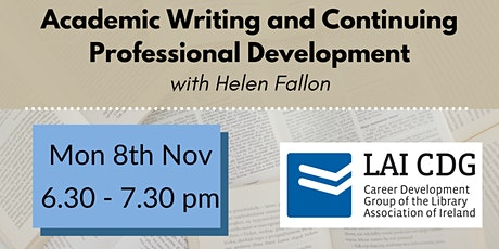 Academic Writing and Continuing Professional Development tickets