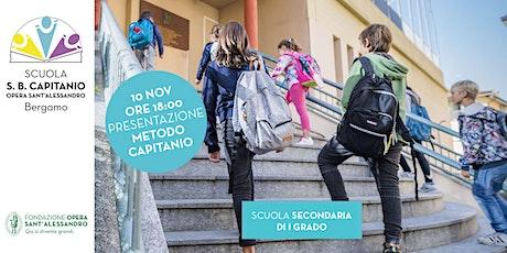 Scuola Capitanio /PRESENTAZIONE METODO PER LA SCUOLA SECONDARIA DI I GRADO biglietti
