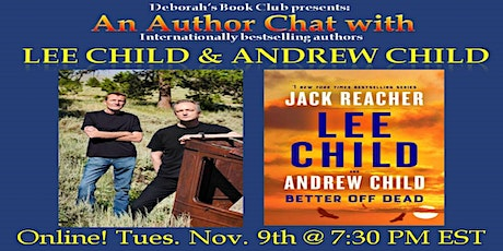 Author Chat with Lee Child & Andrew Child tickets