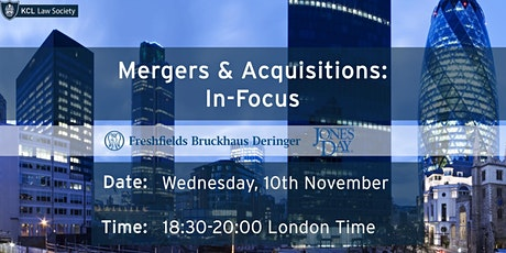 IN-FOCUS: Mergers & Acquisitions Panel with Freshfields tickets