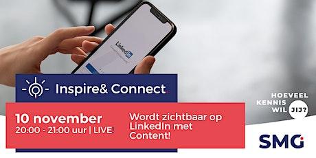 Inspire & Connect LIVE | 10 november | LinkedIn training met Dolf Kos tickets