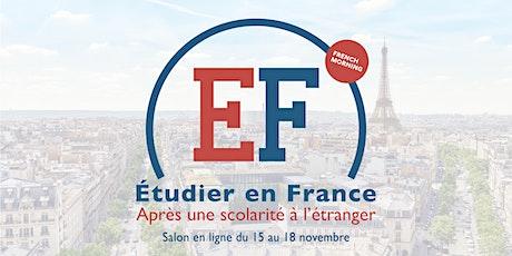 Étudier en France après une scolarité à l'étranger : salon en ligne gratuit billets