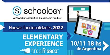 Nuevas funcionalidades SCHOOLOGY 2022:  Elementary Experience boletos