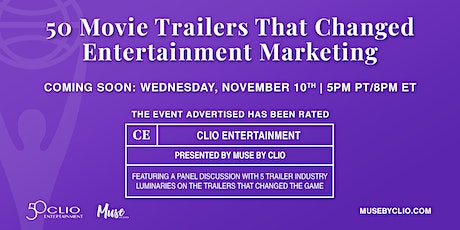 50 Movie Trailers That Changed Entertainment Marketing Virtual Panel Event tickets