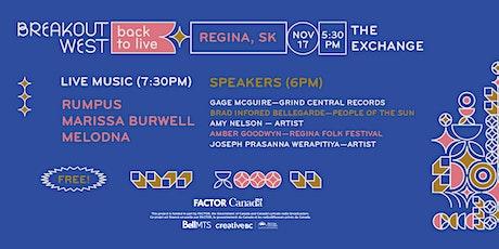 Back to Live - Regina tickets