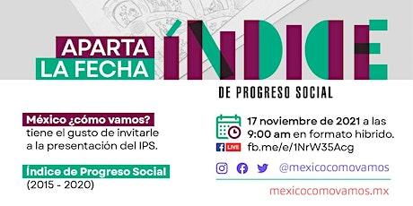 Presentación del Índice de Progreso Social 2015-2020 tickets