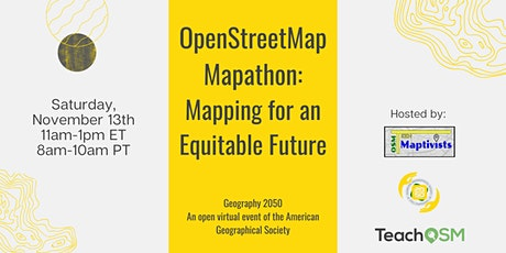 OpenStreetMap Mapathon: Towards an Equitable Future tickets