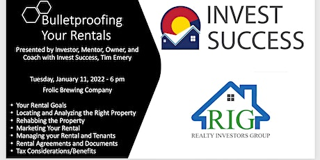 RIG January Meeting - Bulletproofing Your Rentals tickets