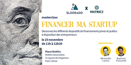 Masterclass - Financer ma startup billets