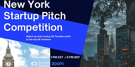 New York Startup Pitch Competition - First USA Edition 2021 tickets