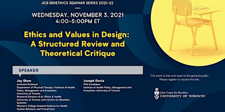 Ethics and Values in Design: A Structured Review and Theoretical Critique tickets
