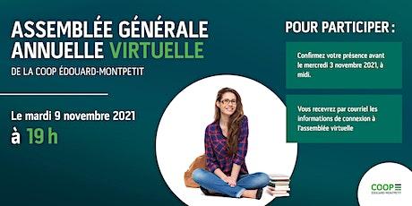 Assemblée générale annuelle virtuelle de la Coop Édouard-Montpetit billets