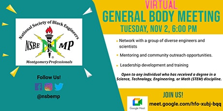 NSBE-Montgomery: General Body Meeting tickets