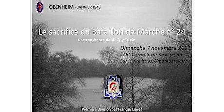 Le sacrifice du Bataillon de Marche BM 24-  Janvier 1945 billets