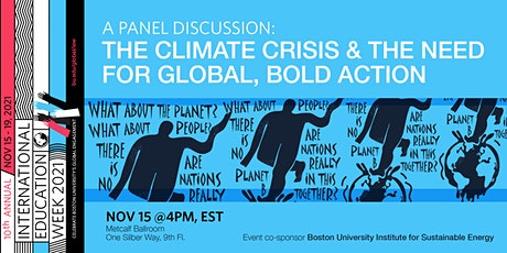 A Panel Discussion: The Climate Crisis & the Need for Global, Bold Action tickets