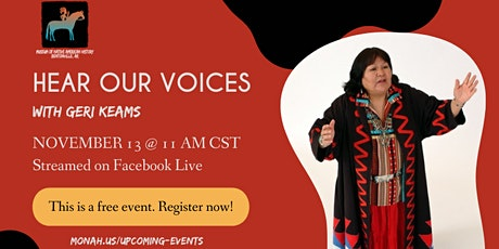 Hear Our Voices with Geri Keams tickets