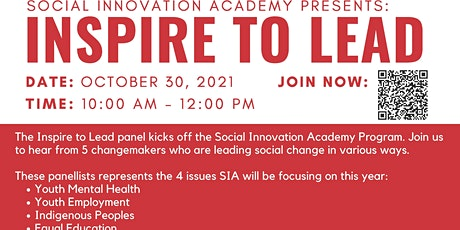 """Vision Youth Social Innovation Academy 2021 - """"Inspire to Lead"""" forum Tickets"""