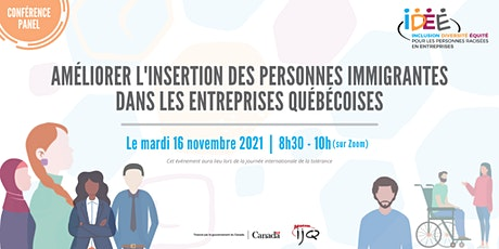 Conférence panel   L'insertion des personnes immigrantes en entreprise billets