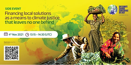 COP26  Side Event: Financing local solutions as a means to climate justice tickets