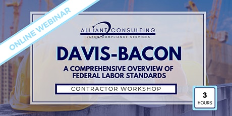 Davis-Bacon - ONLINE WORKSHOP tickets