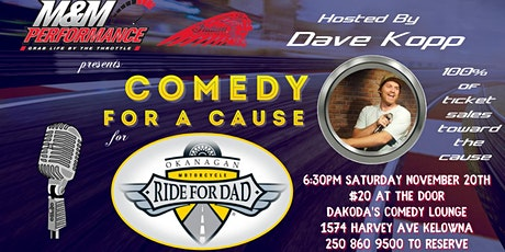 M & M Performance presents Comedy for a Cause for Ride for Dad tickets