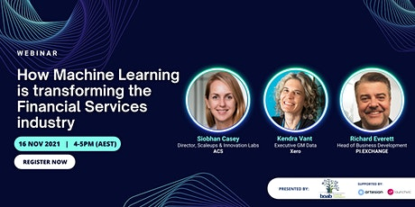 How Machine Learning is transforming the Financial Services industry tickets