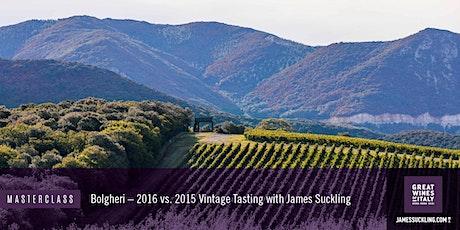Great Wines of Italy Masterclass: Bolgheri - 2015 vs 2016 Vintage Tasting tickets