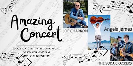 House Concert with Joe Charron, The Soda Crackers and Angela James tickets