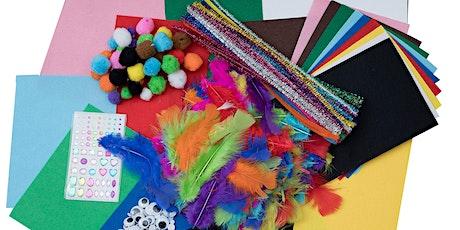 School Holidays Activities - Make a felt pencil topper tickets
