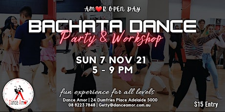 Bachata Social Dance Party & Workshop - Amor Open tickets