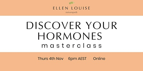Discover Your Hormones Masterclass tickets