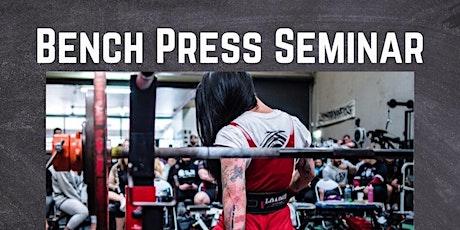 Reapersc Bench press seminar tickets